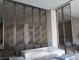 定制铝屏风 铝板隔断屏风