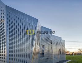 户外冲孔铝单板幕墙