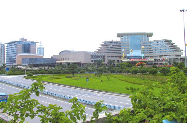 木纹铝单板工程案例之深圳五洲宾馆