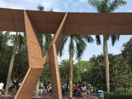 珠海滨海公园冲孔铝单板幕墙工程