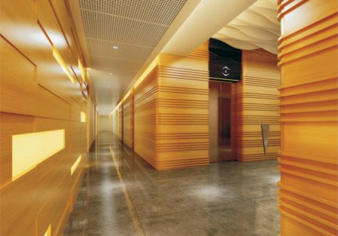 木纹铝单板幕墙吊顶