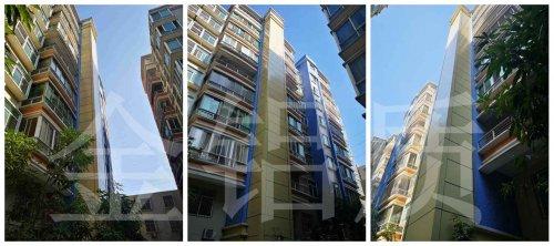 加装电梯井道包边铝单板_明珠华庭案例